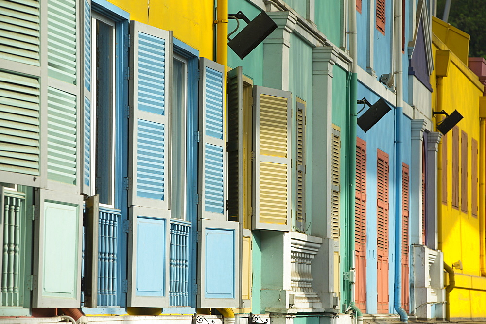 Shutters at Clarke Quay, Singapore, Southeast Asia, Asia - 728-6316