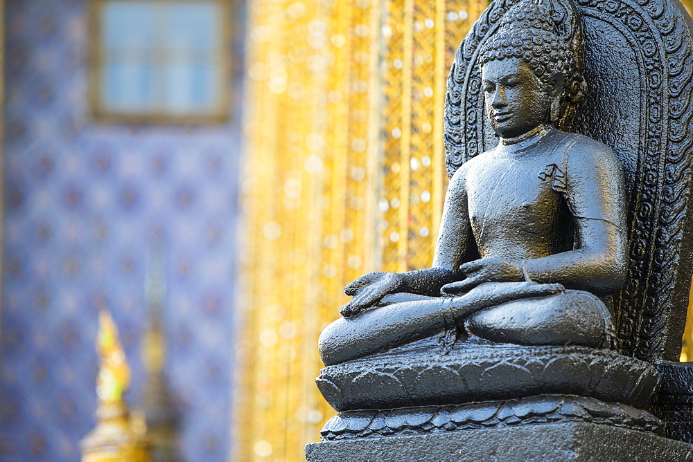 Seated Buddha detail, Grand Palace, Bangkok, Thailand, Southeast Asia, Asia
