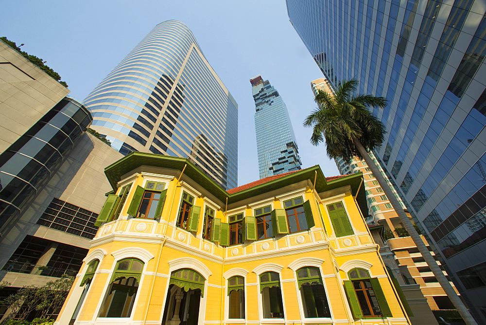 Sathorn Road in Bangkok, Thailand, Southeast Asia, Asia - 728-6387