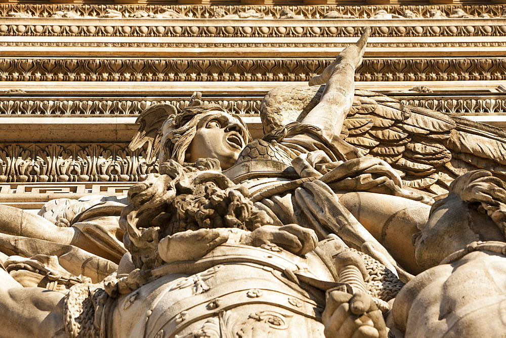 Detail, Arc de Triomphe, Paris, France, Europe - 728-6404