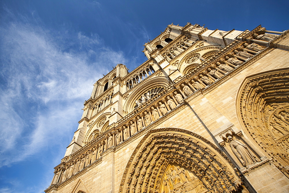 Notre Dame Cathedral, Paris, France, Europe - 728-6411