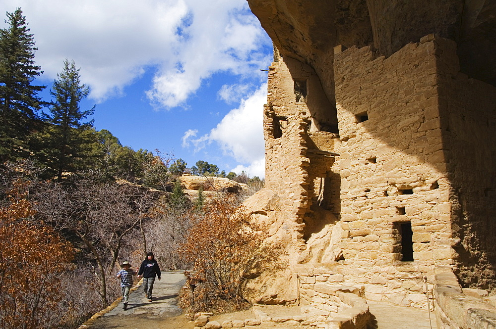 Spruce Tree House Ruins, Pueblo ruins in Mesa Verde containing some of the most elaborte Pueblo dwellings found today, Mesa Verde National Park, UNESCO World Heritage Site, Colorado, United States of America, North America