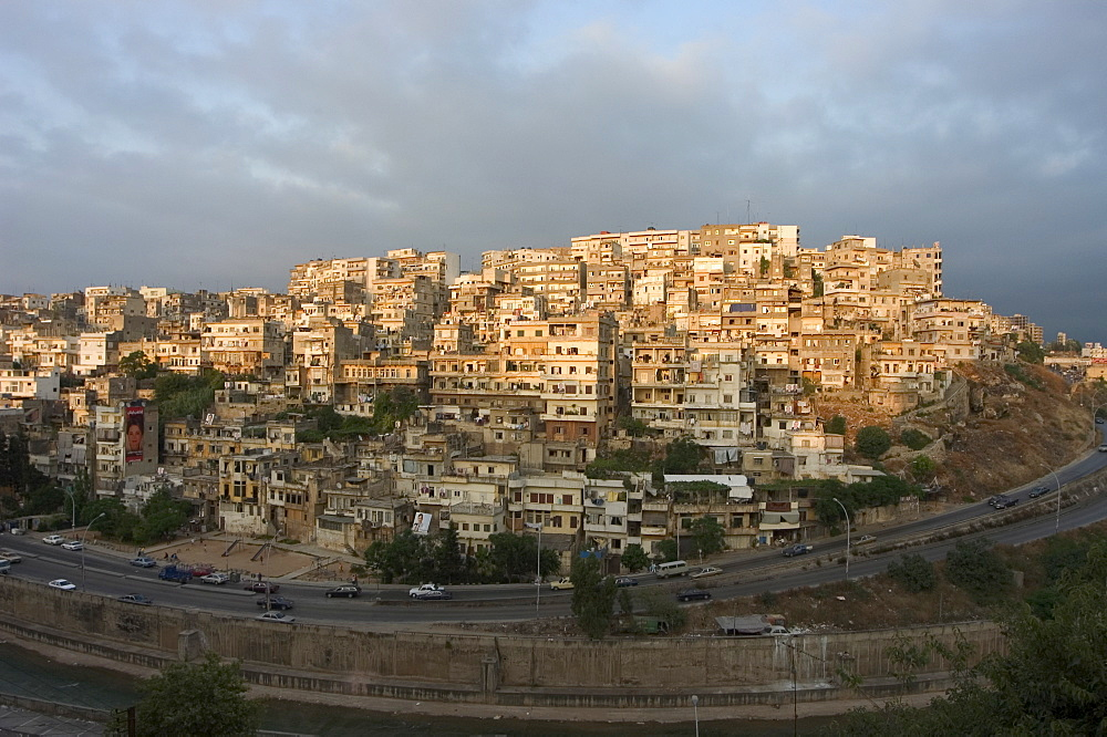 Evening light over old city, Tripoli, Lebanon, Middle East