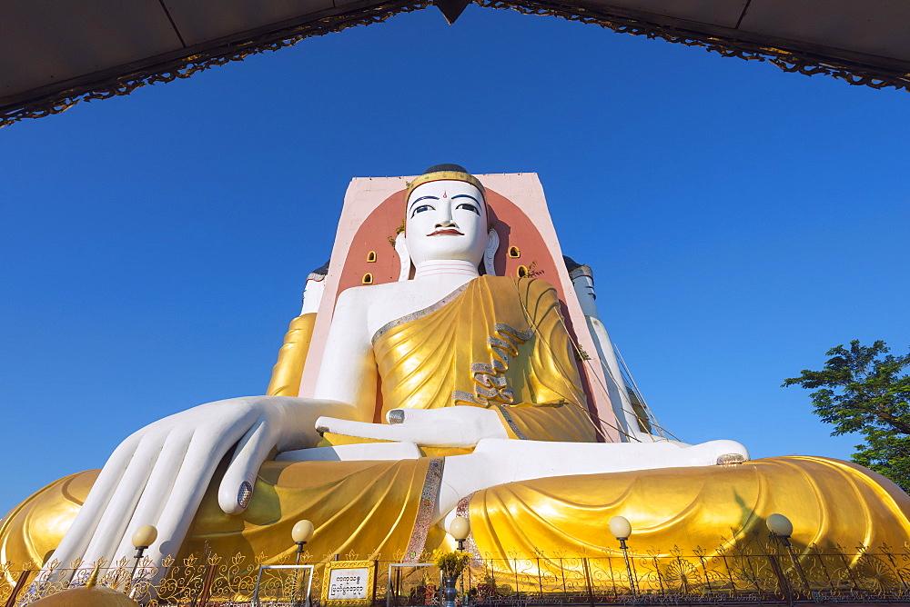 Gautama Buddha, Four Faces paya, Kyaik Pun Paya, Bago, Myanmar (Burma), Asia