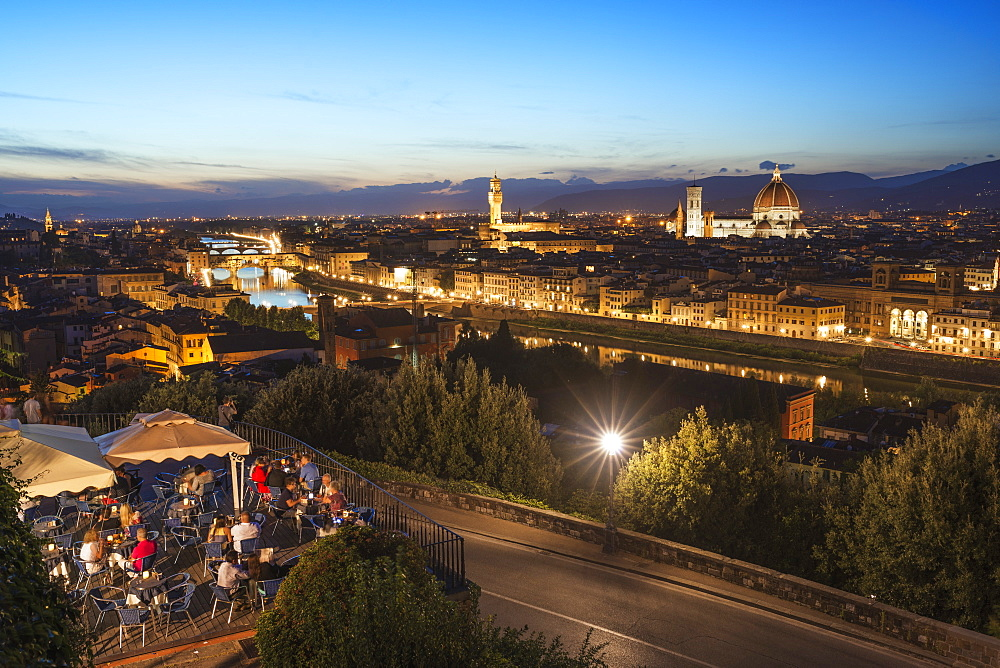 Vecchio Palace and the Duomo (Cathedral), Historic Centre, UNESCO World Heritage Site, Florence, Tuscany, Italy, Europe