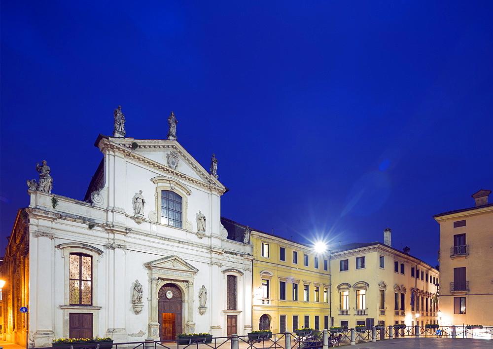 Santa Maria Church, Piazza Signori, Vicenza, UNESCO World Heritage Site, Veneto, Italy, Europe