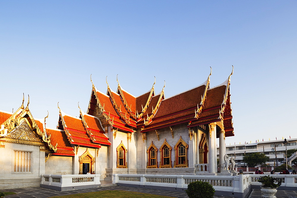 The Marble Temple (Wat Benchamabophit), Bangkok, Thailand, Southeast Asia, Asia