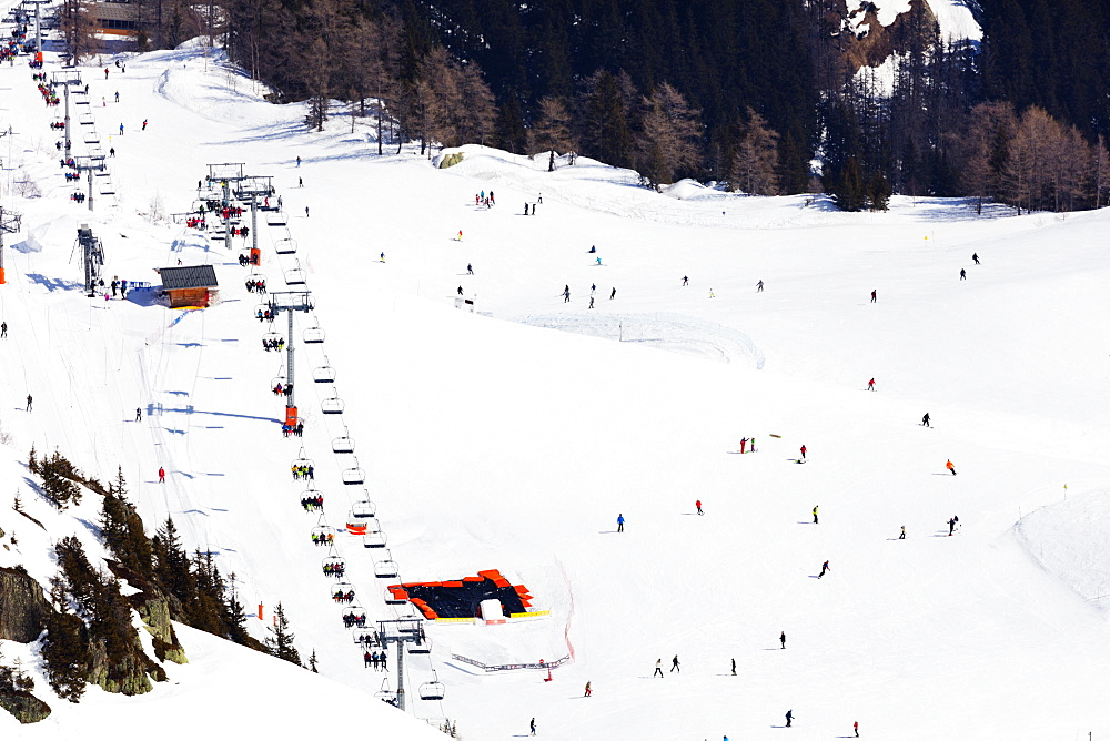 Brevant ski area, Chamonix, Rhone Alpes, Haute Savoie, French Alps, France, Europe