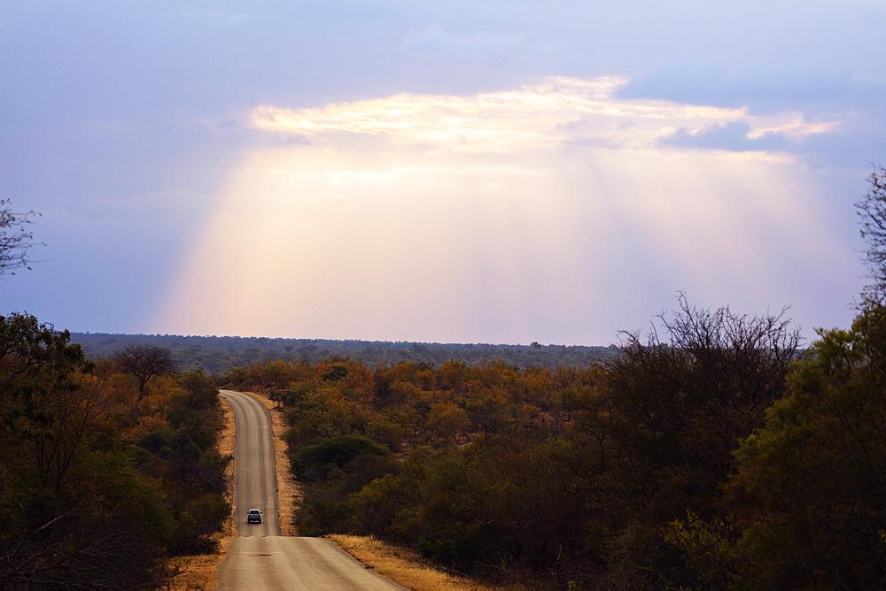 Sunset, Kruger National Park, South Africa, Africa