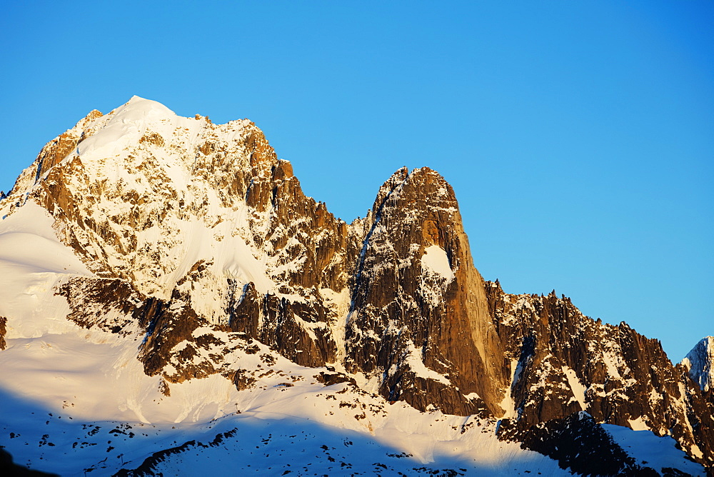 Aiguille Verte, 4122m, and Les Drus, Chamonix, Haute Savoie, Rhone Alpes, French Alps, France, Europe
