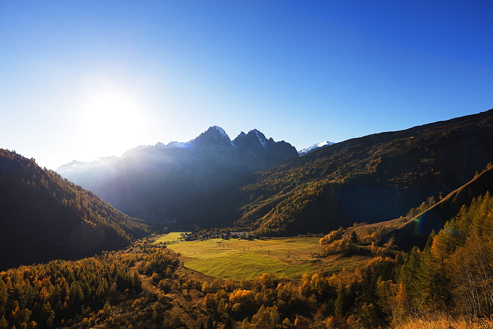 Le Tour, autumn, Chamonix, Haute Savoie, Rhone Alpes, French Alps, France, Europe
