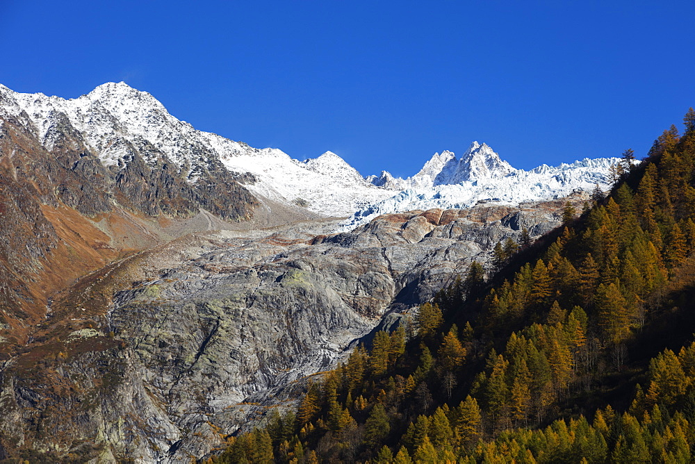 Le Tour glacier, autumn, Chamonix, Haute Savoie, Rhone Alpes, French Alps, France, Europe