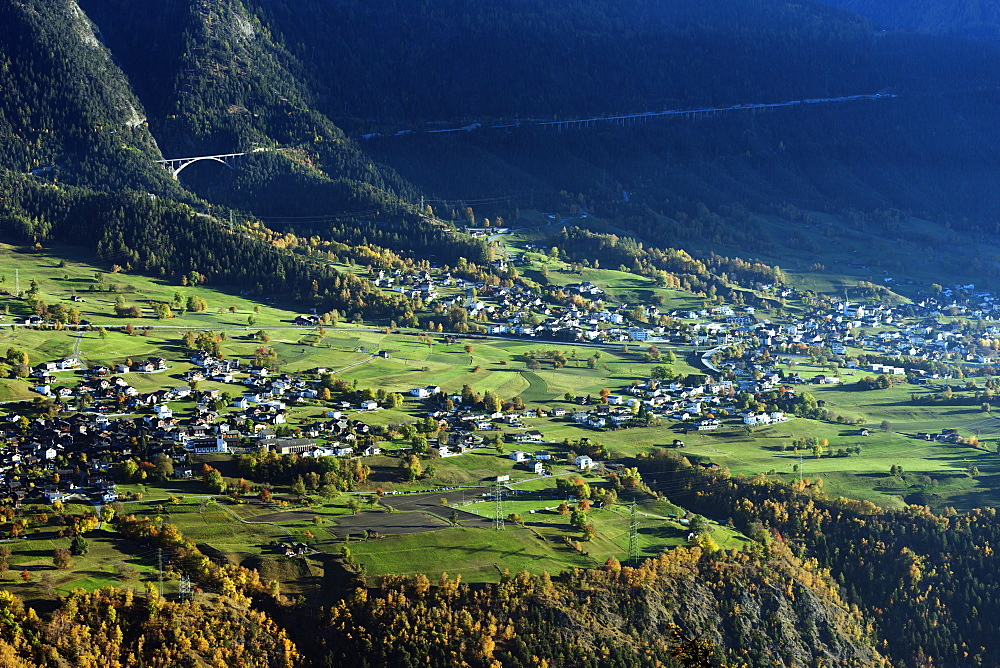 Village of Termen near Brig, Valais, Swiss Alps, Switzerland, Europe