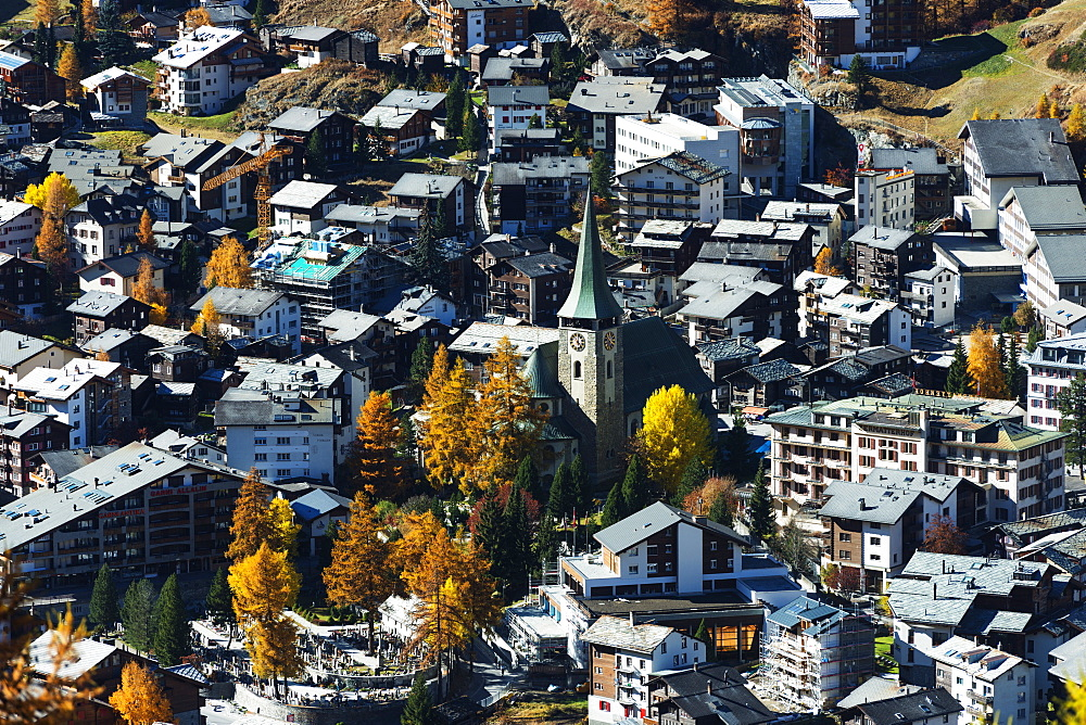 Zermatt in autumn, Valais, Swiss Alps, Switzerland, Europe