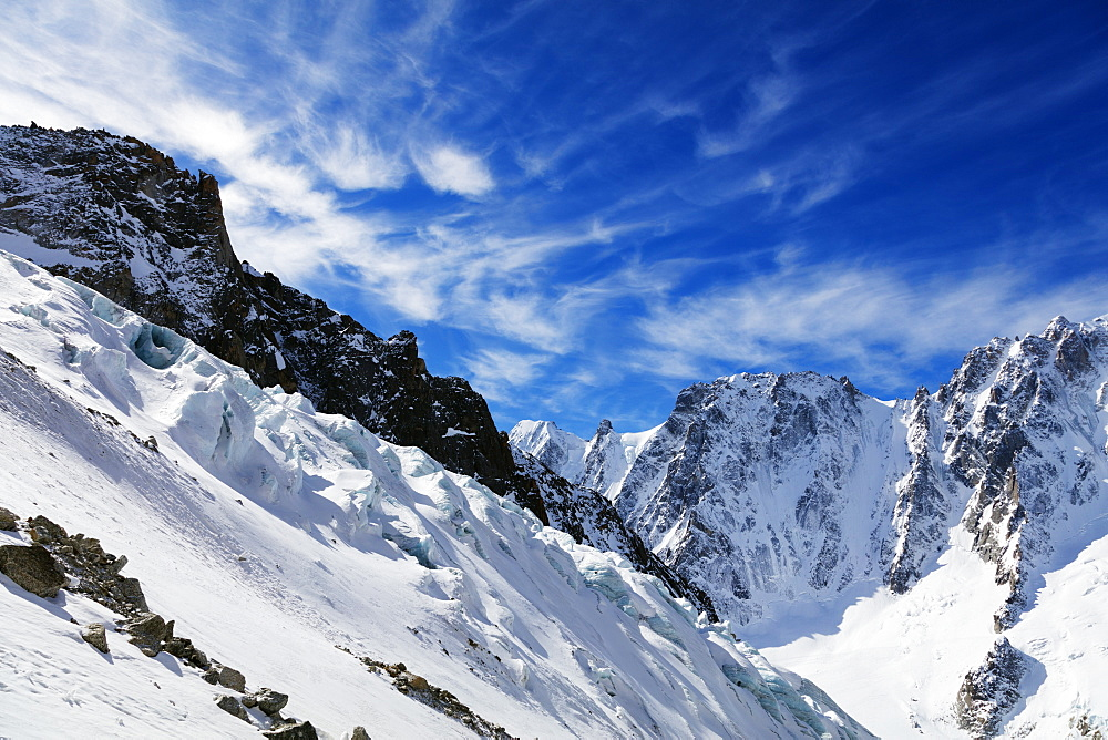 Argentiere Glacier, Chamonix, Rhone Alpes, Haute Savoie, French Alps, France, Europe