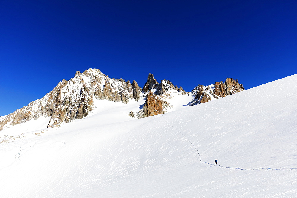 Europe, The Alps, France, Haute Savoie, Rhone Alps, Chamonix, glacier du Tour (MR)