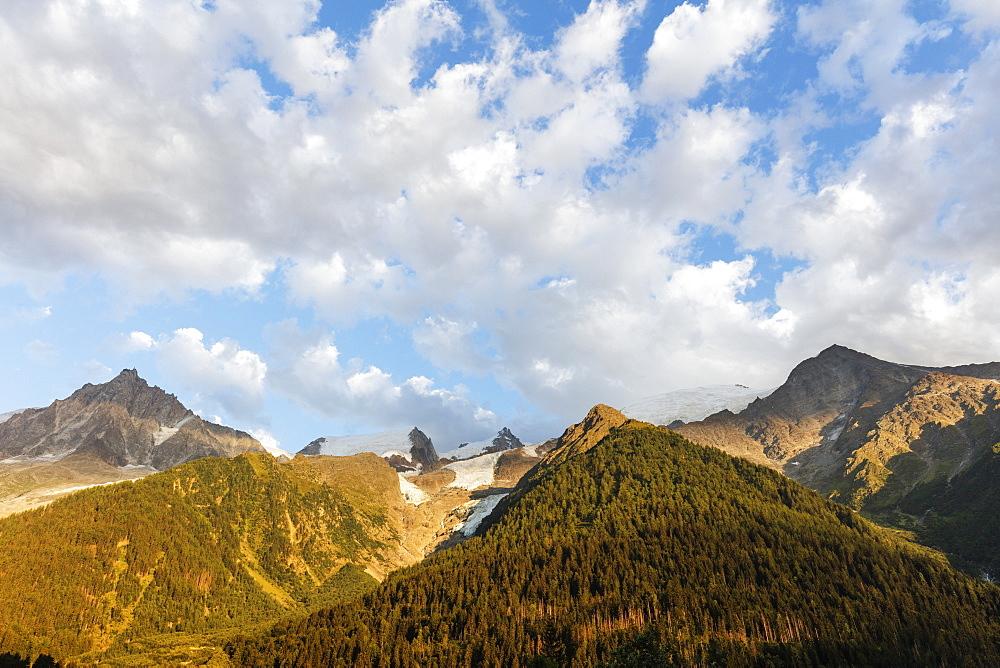 Europe, France, Haute Savoie, Rhone Alps, Chamonix, glacier des bossons Mont Blanc