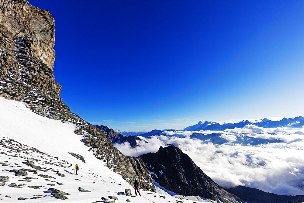View to Mont Blanc in France from Grand Combin, Valais, Swiss Alps, Switzerland, Europe - 733-7533