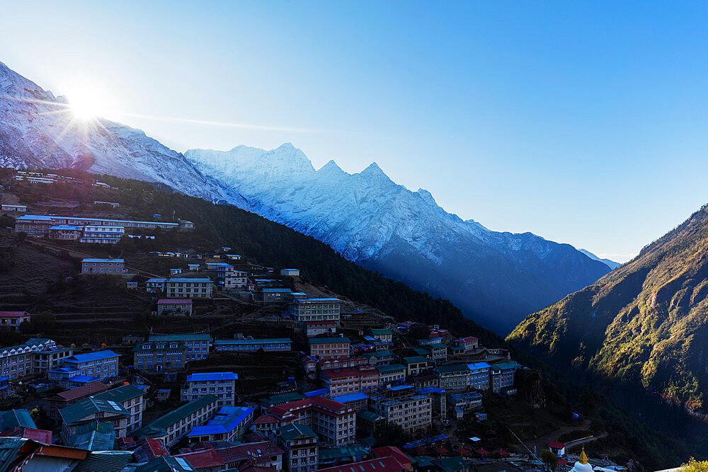 Asia, Nepal, Khumbu valley, Sagamartha National Park, Unesco World Heritage site, Namche Bazaar