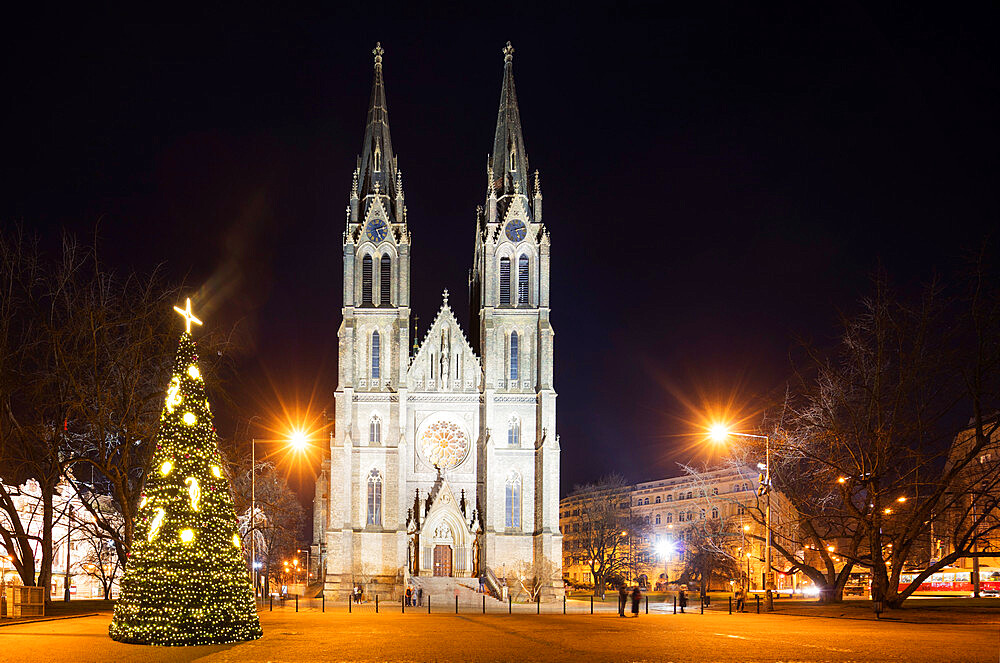 Europe, Czech Republic, Prague, church of Saint Ludmila