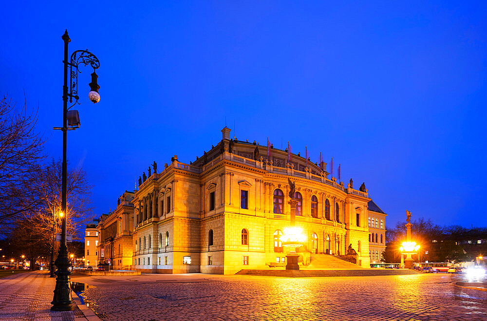 Rudolfinum concert hall and art gallery, Prague, Czech Republic, Europe