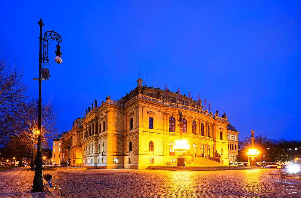 Rudolfinum concert hall and art gallery, Prague, Czech Republic, Europe
