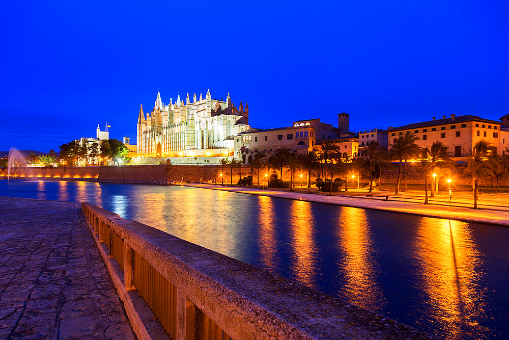 La Seu Cathedral, Palma de Mallorca, Majorca, Balearic Islands, Spain, Mediterranean, Europe