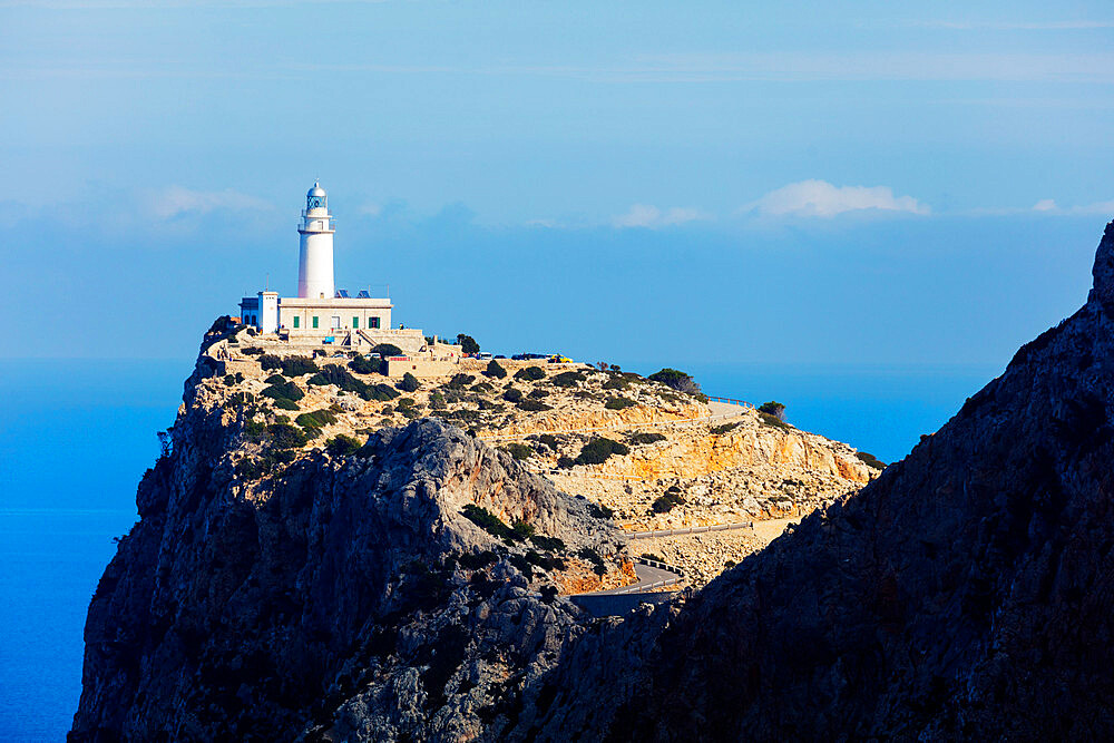 Cap Formentor lighthouse, Majorca, Balearic Islands, Spain, Mediterranean, Europe