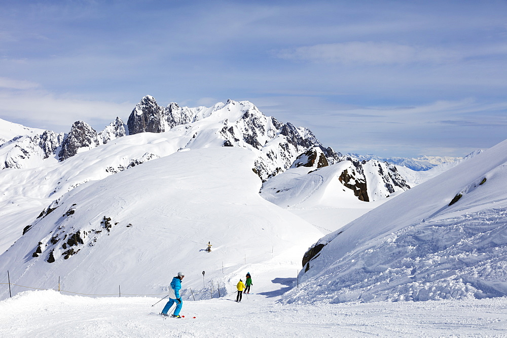 Brevant ski area, Chamonix, Haute Savoie, Rhone Alpes, French Alps, France, Europe