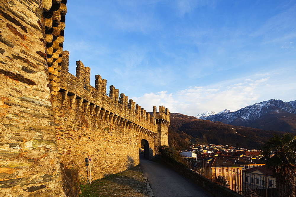 Castelgrande, UNESCO World Heritage Site, Bellinzona, Ticino, Switzerland, Europe