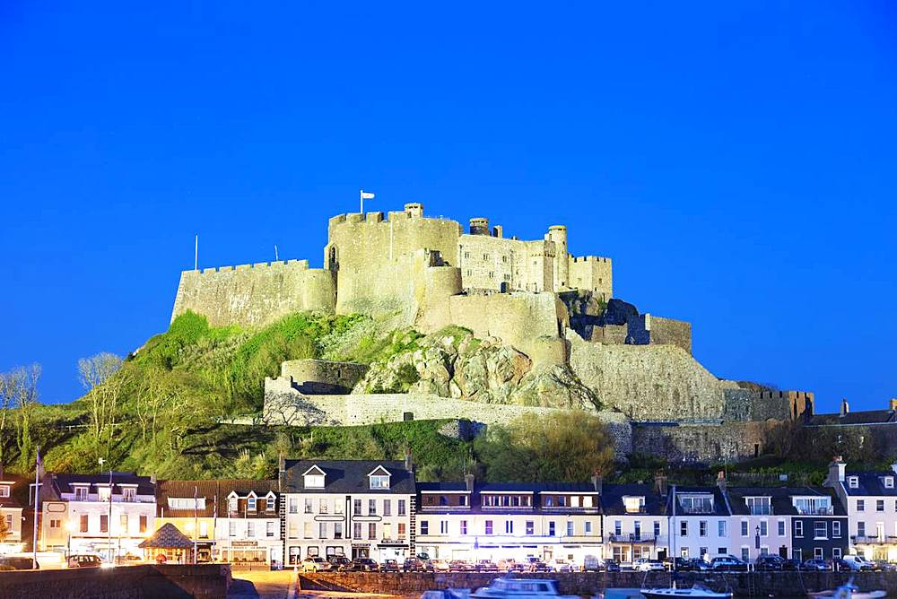 Mont Orgueil Castle (Gorey Castle), Gorey, Jersey, Channel Islands, United Kingdom, Europe