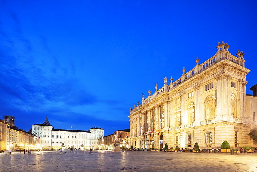 Palazzo Madama and Palazzo Reale, Turin, Piedmont, Italy, Europe