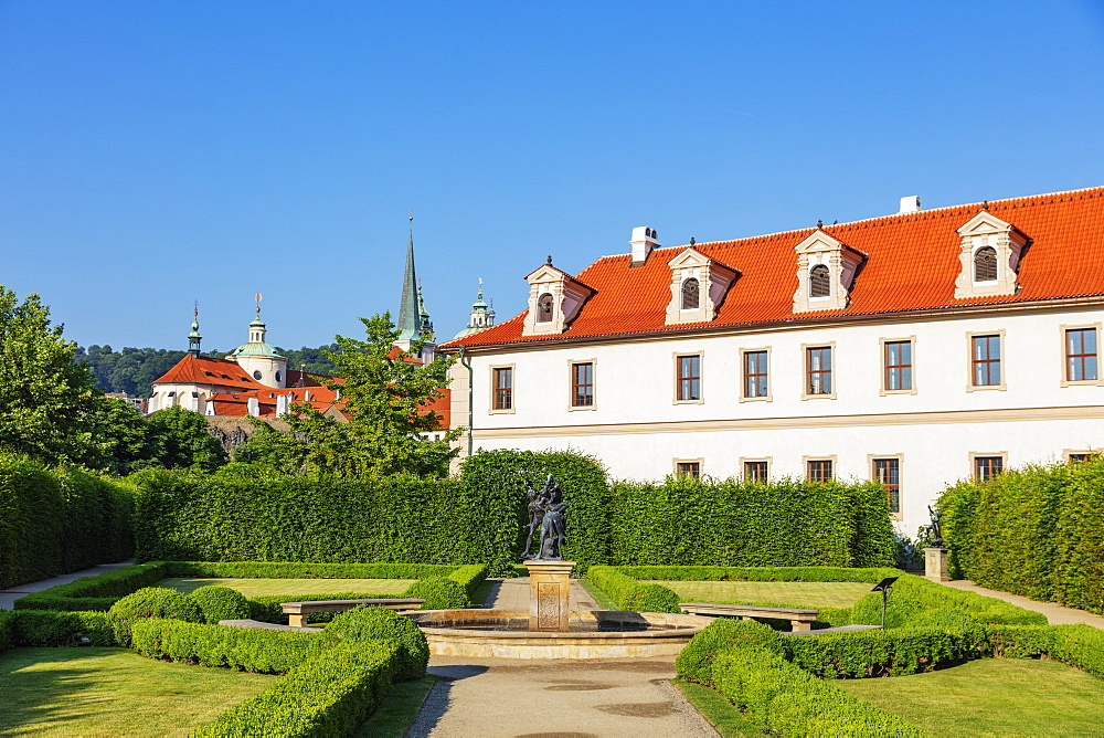Europe, Czech Republic, Bohemia, Prague, Unesco site, Wallenstein Palace park