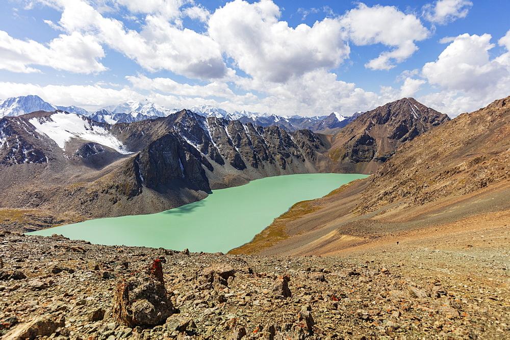 Ala Kol lake, 3500m, Karakol, Kyrgyzstan, Central Asia, Asia - 733-8077
