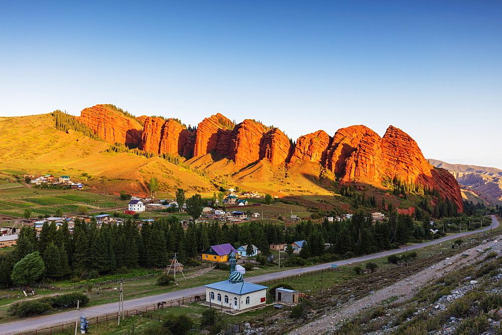 Jeti Oghuz Korort, sandstone rock formations, Karakol, Kyrgyzstan, Central Asia, Asia - 733-8080