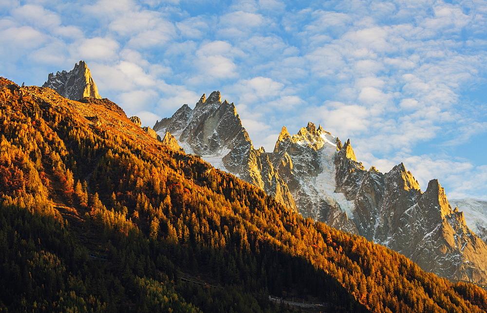 Europe, France, Chamonix, Aiguille de Chamonix