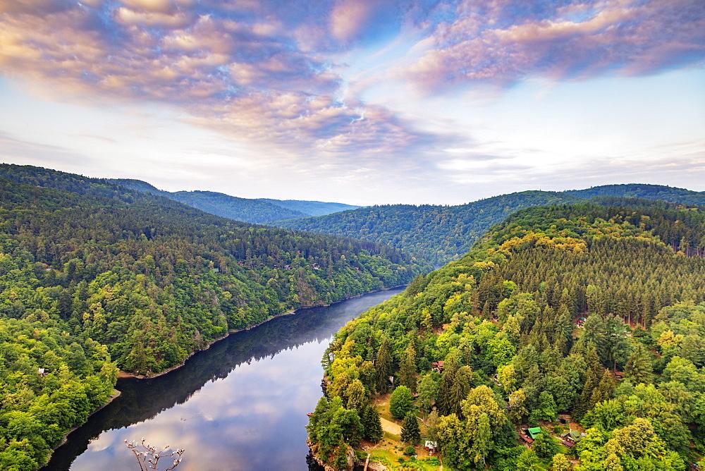 Vltava River, Czech Republic, Europe - 733-8105
