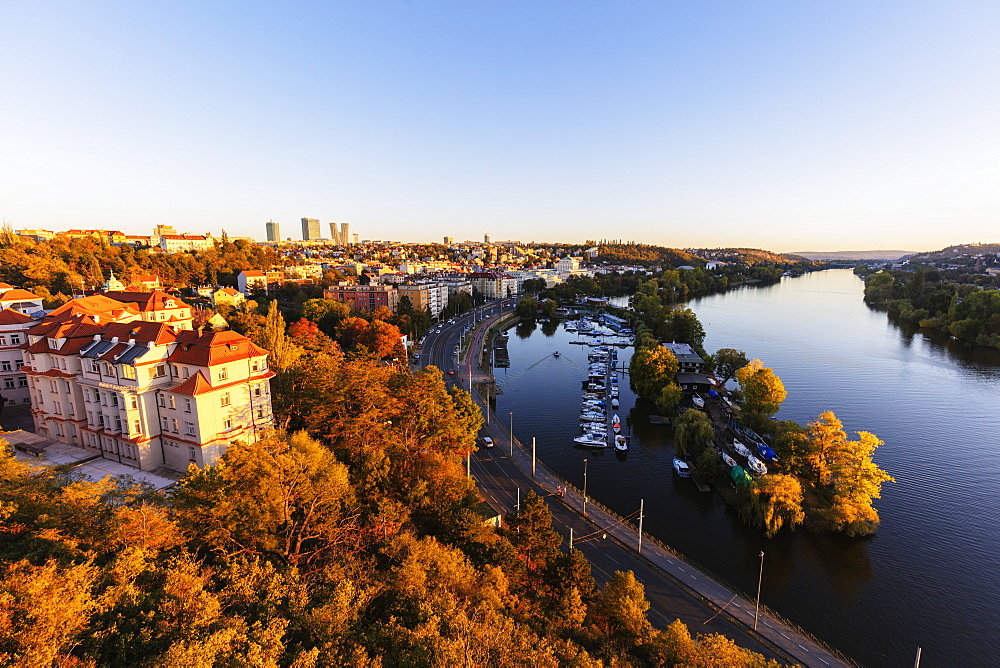 Europe, Czech Republic, Prague, Unesco site, Vysehrad castle area above Vltava river