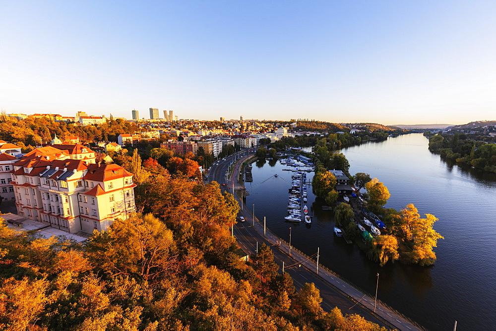 Vysehrad castle area above Vltava River, Prague, Czech Republic, Europe - 733-8110