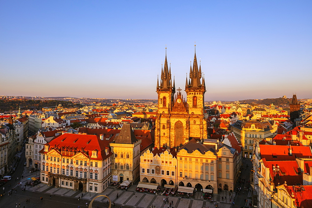 Europe, Czech Republic, Prague, Unesco site, Old Town Square, Our Lady before Tyn church