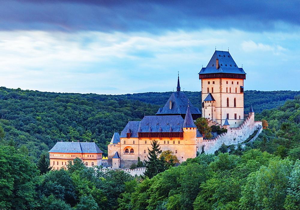 Karlstejn Castle, Czech Republic, Europe - 733-8116