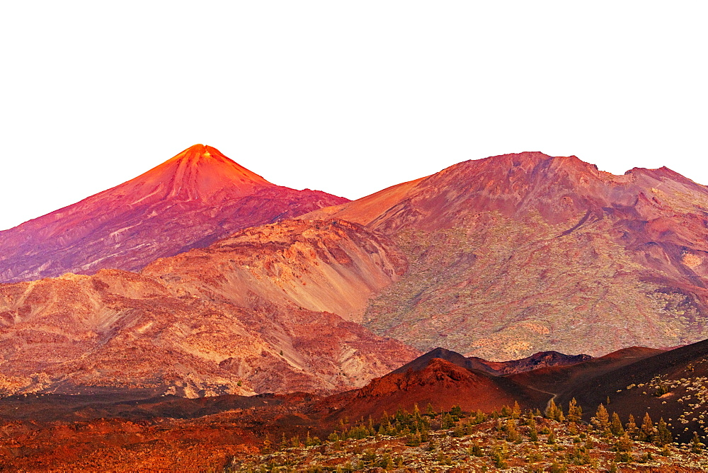 Europe, Spain, Canary Islands, Tenerife, Teide National Park, Pico del Teide (3718m) highest mountain in Spain - 733-8427
