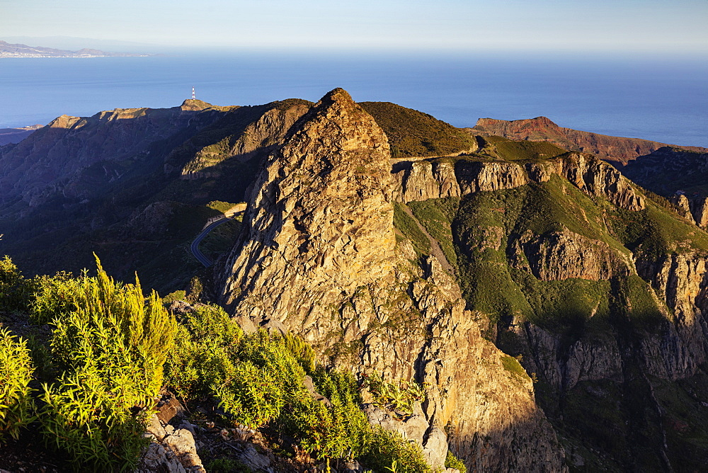 Roque de Agando, Garajonay National Park, UNESCO World Heritage Site, La Gomera, Canary Islands, Spain, Atlantic, Europe