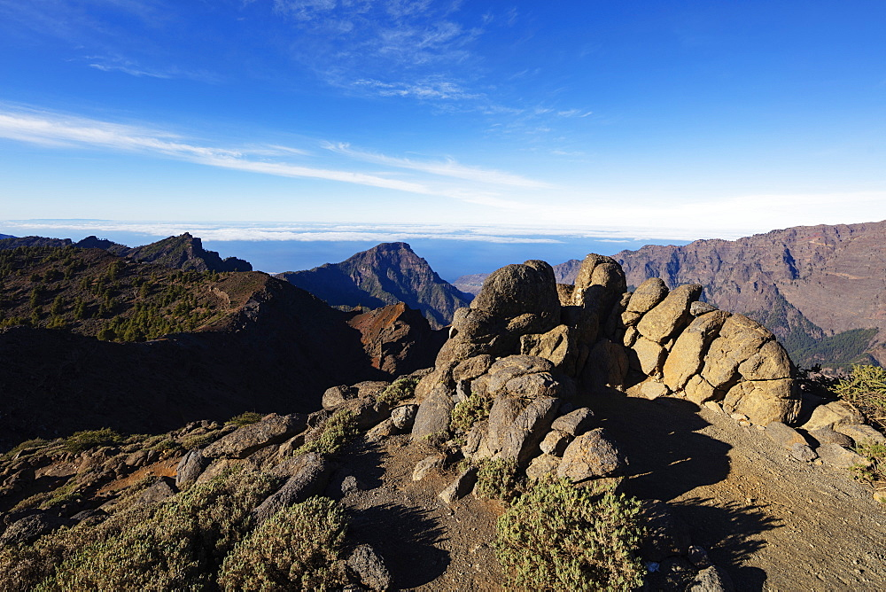 Europe, Spain, Canary Islands, La Palma, Unesco Biosphere site, National Park Caldera de Taburiente - 733-8470