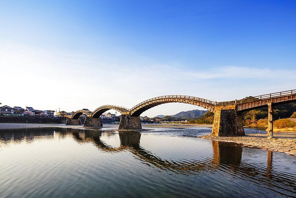 Kintaikyo five arched bridge, Iwakuni, Yamaguchi Prefecture, Honshu, Japan, Asia