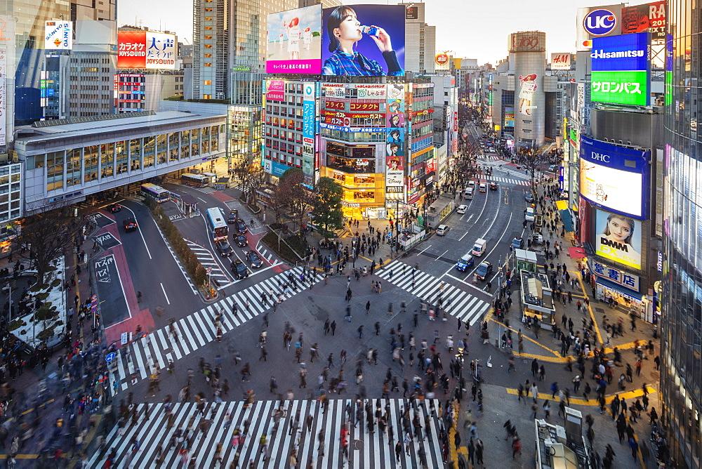 Shibuya crossing, Tokyo, Japan, Asia