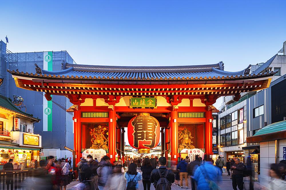 Asia, Japan, Tokyo, Asakusa, Sensoji temple; Kaminarimon main gate