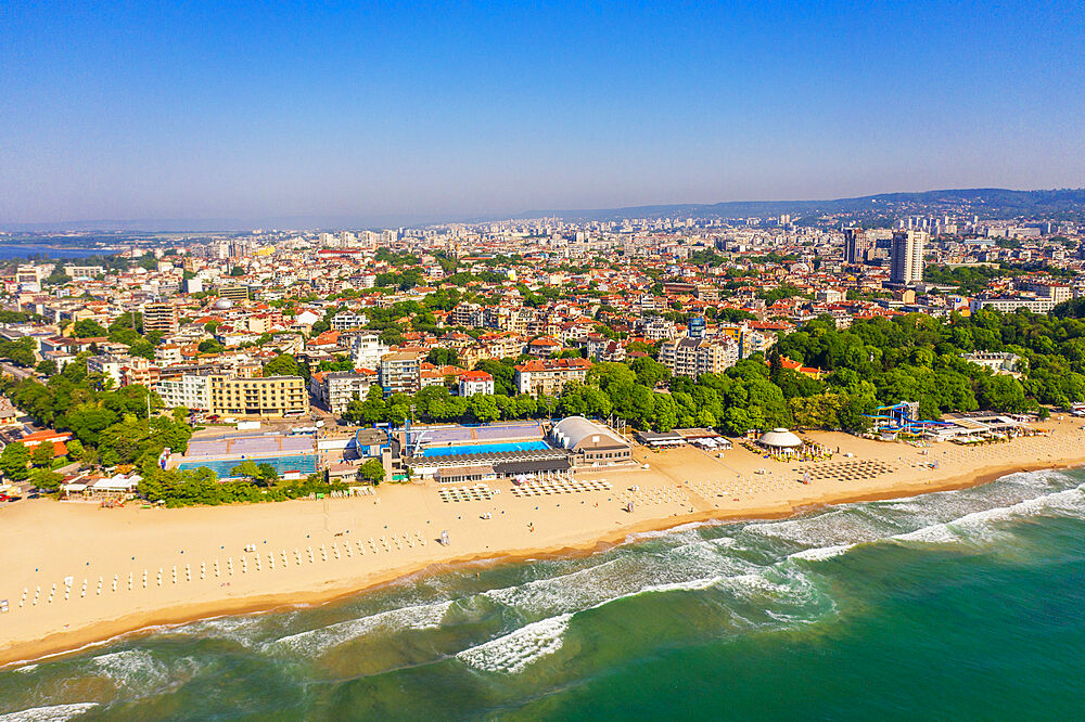 Aerial view by drone, Varna, Bulgaria, Europe