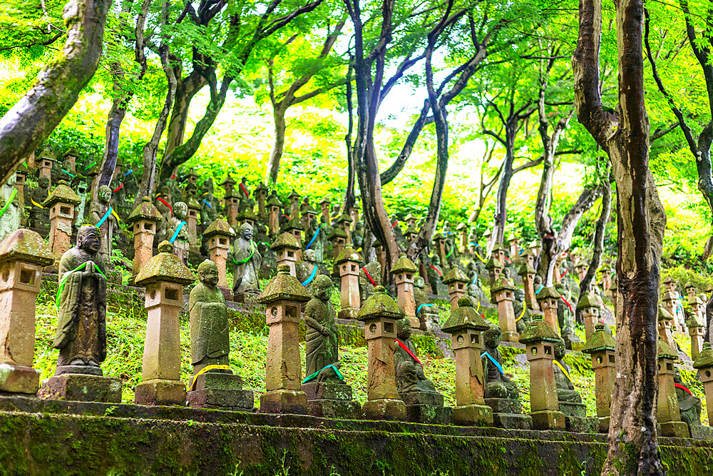 Japan, Honshu, Toyama prefecture, Toyama, Soto Chokeiji Temple of 500 jizo buddhist statues