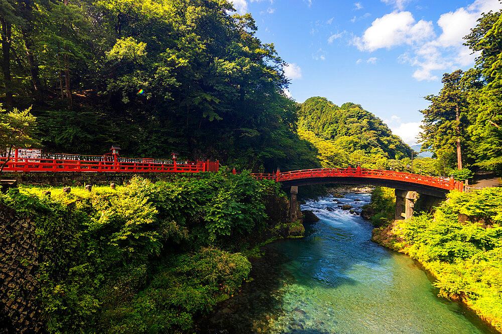 Shinkyo Bashi bridge on Daiya River, Nikko, UNESCO World Heritage Site, Tochigi prefecture, Honshu, Japan, Asia